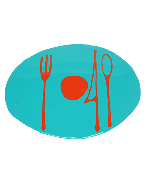 Erde-Table Mat by. Gaetano Pesce - matt turquoise & orange