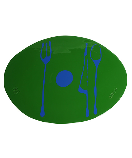 Erde-Table Mat by. Gaetano Pesce - matt green & blue