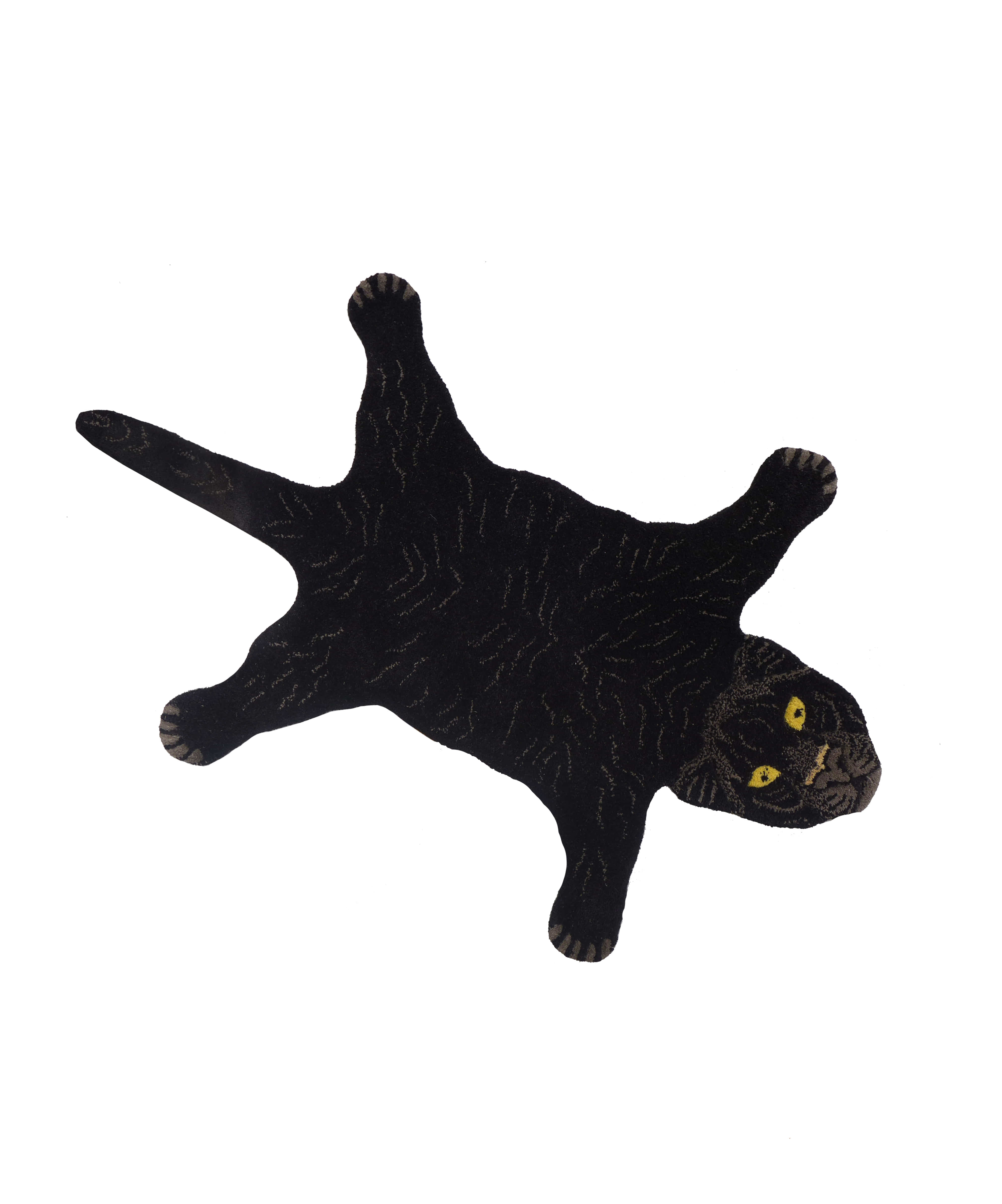 Erde-Black Panther Rug